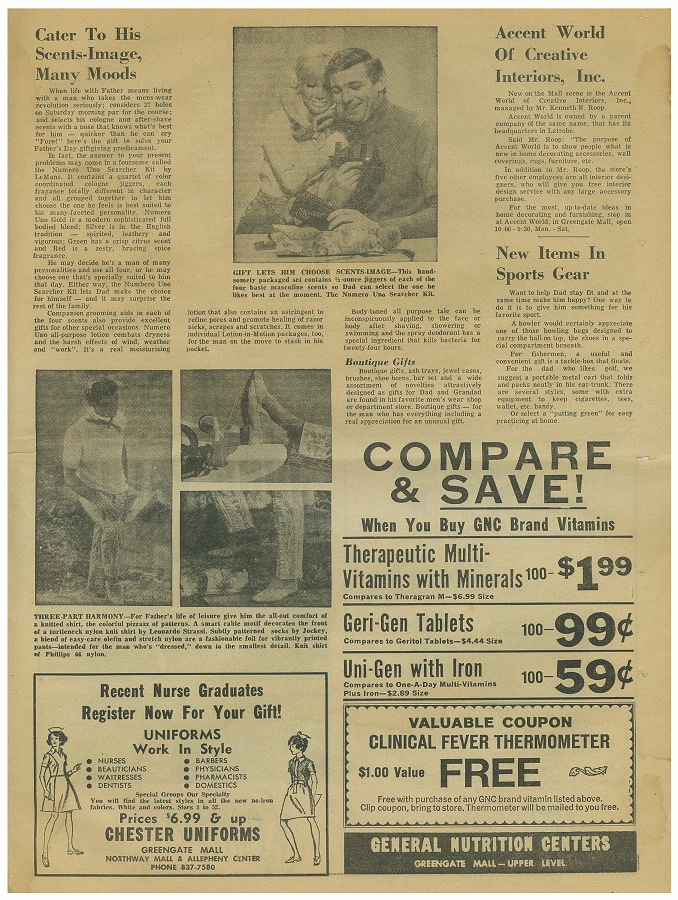 newspaper circular page 15 june 3 1969 greengate mall revisited