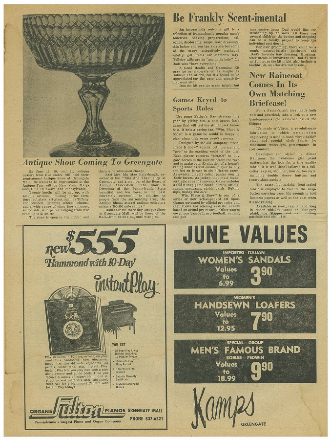 newspaper circular page 16 june 3 1969 greengate mall revisited